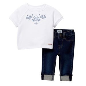 HUDSON French Terry Embroidered Pullover&Pants
